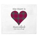 Heart-MacCulloch.MacCullough King Duvet