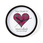 Heart-MacCulloch.MacCullough Wall Clock