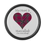 Heart-MacCulloch.MacCullough Large Wall Clock