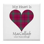 Heart-MacCulloch.MacCullough Tile Coaster