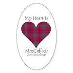 Heart-MacCulloch.MacCullough Sticker (Oval 10 pk)