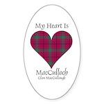 Heart-MacCulloch.MacCullough Sticker (Oval 50 pk)