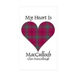 Heart-MacCulloch.MacCull Sticker (Rectangle 50 pk)