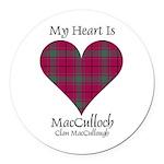 Heart-MacCulloch.MacCullough Round Car Magnet