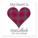 Heart-MacCulloch.MacCull Square Car Magnet 3