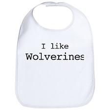 I like Wolverines Bib