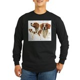 Brittany spaniels Long Sleeve T-shirts (Dark)