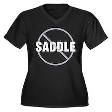 Great Dane No Saddle Women's Plus Size V-Neck Dark