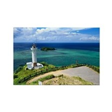 Northern lighthouse of Ishigaki J Rectangle Magnet