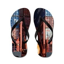 Container ship lifeboat Flip Flops
