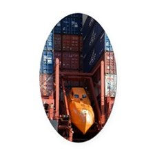 Container ship lifeboat Oval Car Magnet