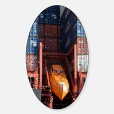 Container ship lifeboat Sticker (Oval)