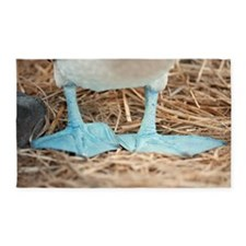Blue footed booby feet 3'x5' Area Rug