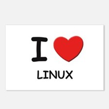 I love linux  Postcards (Package of 8)