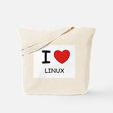 I love linux Tote Bag