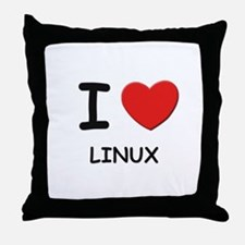 I love linux  Throw Pillow
