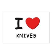 I love knives  Postcards (Package of 8)