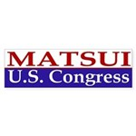 Matsui for Congress (bumper sticker)