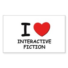 I love interactive fiction Rectangle Decal