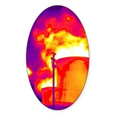 Cooling towers, thermogram Decal