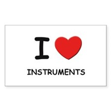 I love instruments Rectangle Decal