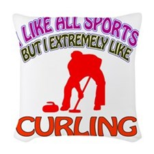 Curling designs Woven Throw Pillow