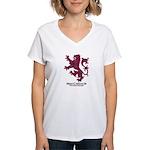 Lion-MacCulloch.MacCullough Women's V-Neck T-Shirt
