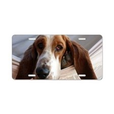 Basset Hound dog Aluminum License Plate