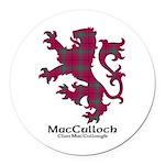 Lion-MacCulloch.MacCullough Round Car Magnet