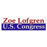 Zoe Lofgren for Congress (bumper sticker)