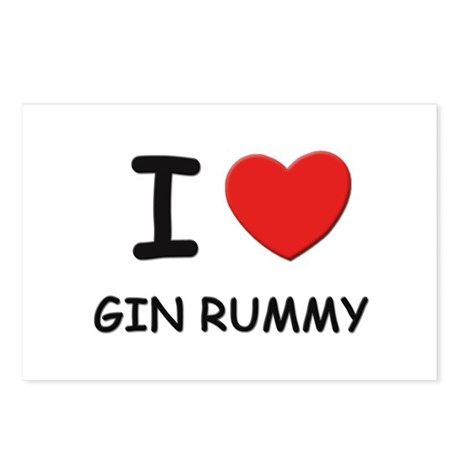 I love gin rummy Postcards (Package of 8)