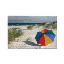 Colorful Umbrella on Beach at Bal Rectangle Magnet