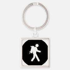 Backpacker-AAB1 Square Keychain