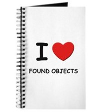 I love found objects Journal