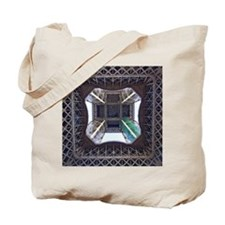 View from underneath Eiffel Tower Tote Bag
