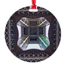 View from underneath Eiffel Tower Ornament