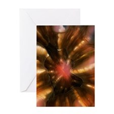 Coral polyp mouth Greeting Card