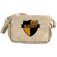 Rugby Shield Black Gold Messenger Bag