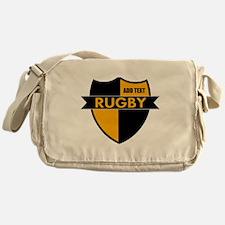 Rugby Shield Black Gold Messenger Bag