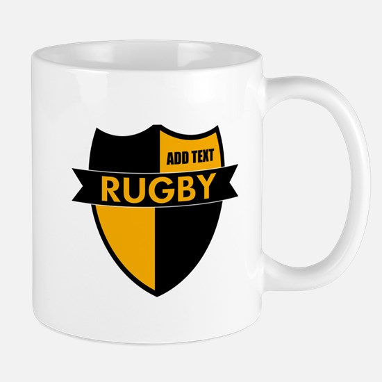 Rugby Shield Black Gold Mug