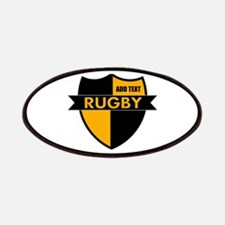 Rugby Shield Black Gold Patches