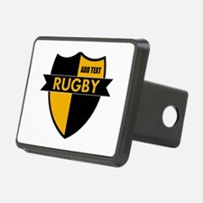 Rugby Shield Black Gold Hitch Cover