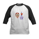 Boy Inner Geek Kids Baseball Jersey