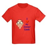 Boy Inner Geek Kids Dark T-Shirt