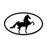 American saddlebred Oval Car Magnets