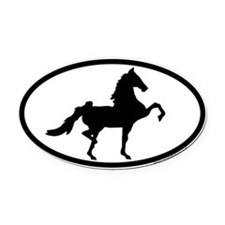 Cute Equine Oval Car Magnet