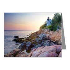 Bass head lighthouse sunset Note Cards (Pk of 20)