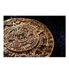 Aztec calendar stone carv Postcards (Package of 8)