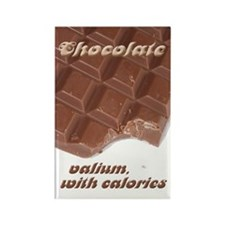 Chocolate: valium+calories Rectangle Magnet