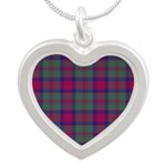 Tartan - Carrick Silver Heart Necklace